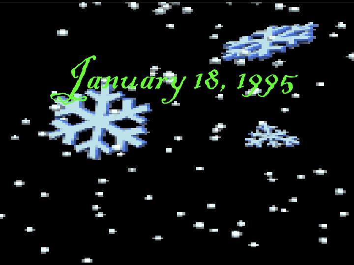 January 18 1995