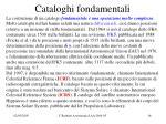 cataloghi fondamentali