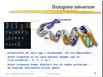 biologiske sekvenser