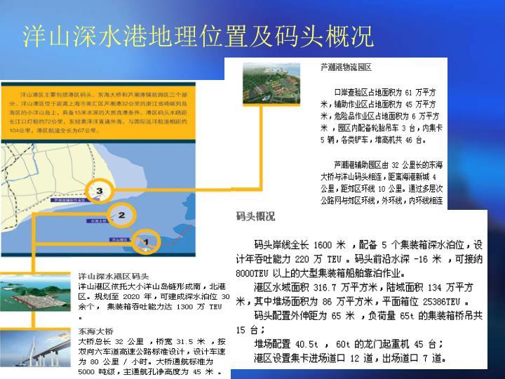 洋山深水港地理位置及码头概况