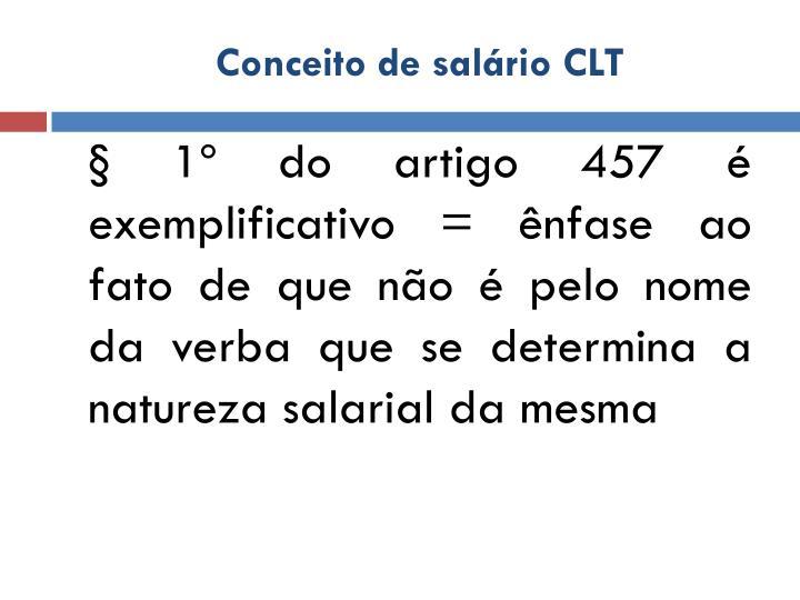 Conceito de salário CLT