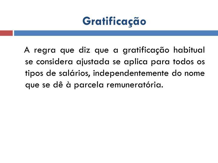 Gratificação