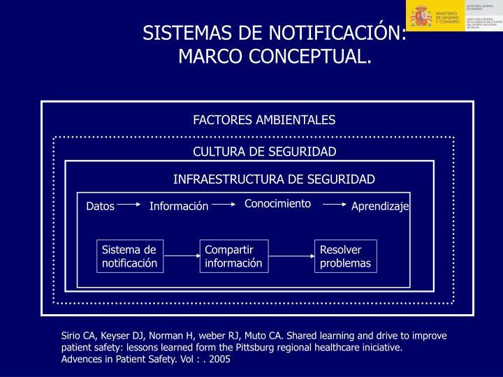 SISTEMAS DE NOTIFICACIÓN: