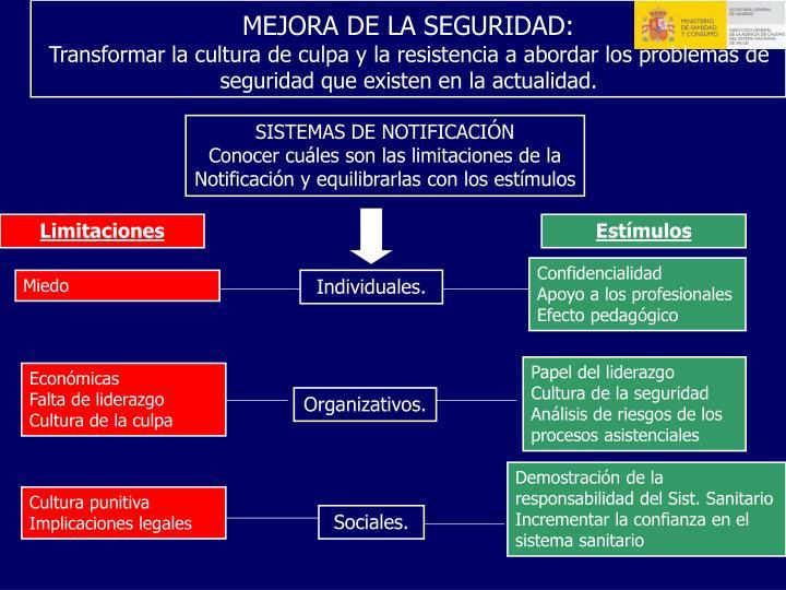 MEJORA DE LA SEGURIDAD: