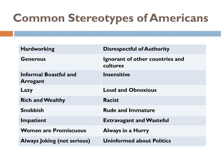 Common Stereotypes of Americans