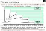 climate predictions