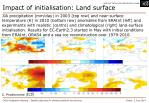 impact of initialisation land surface2