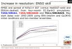 increase in resolution enso skill