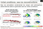 initial conditions sea ice reconstructions