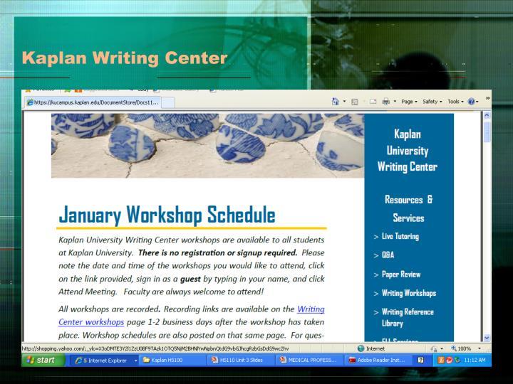 Kaplan Writing Center