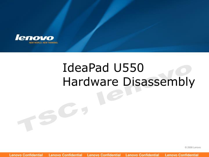 Ideapad u550 hardware disassembly