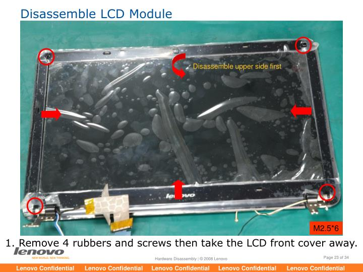 Disassemble LCD Module