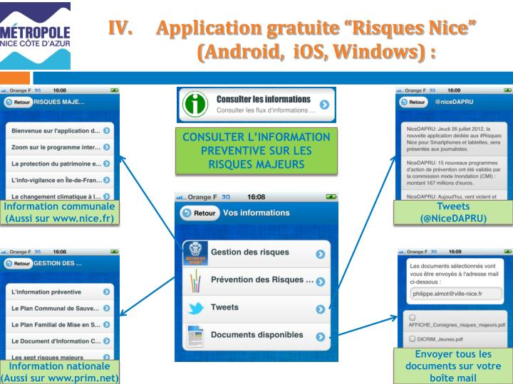 Application gratuite risques nice android ios windows1