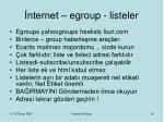nternet egroup listeler