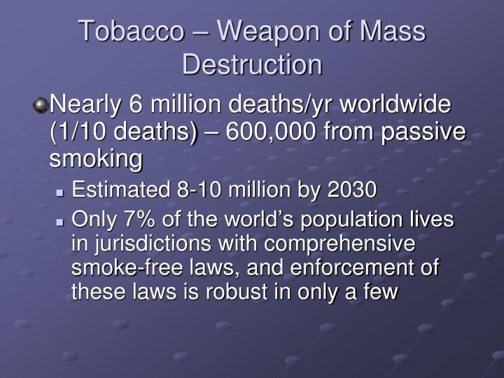 Tobacco – Weapon of Mass Destruction