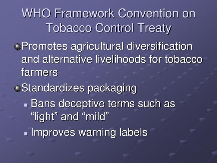 WHO Framework Convention on Tobacco Control Treaty