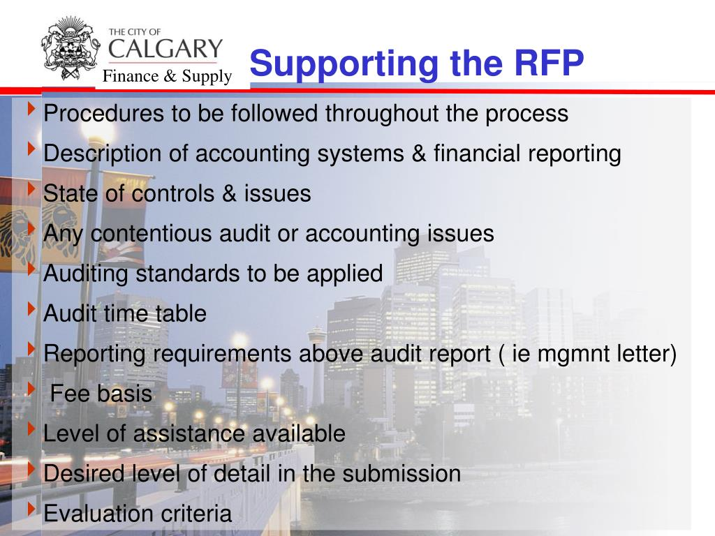 PPT - Presentation on Request For Proposal For Audit Services at