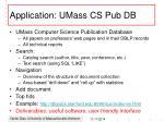 application umass cs pub db