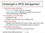 challenges in rfid management