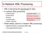 in network xml processing