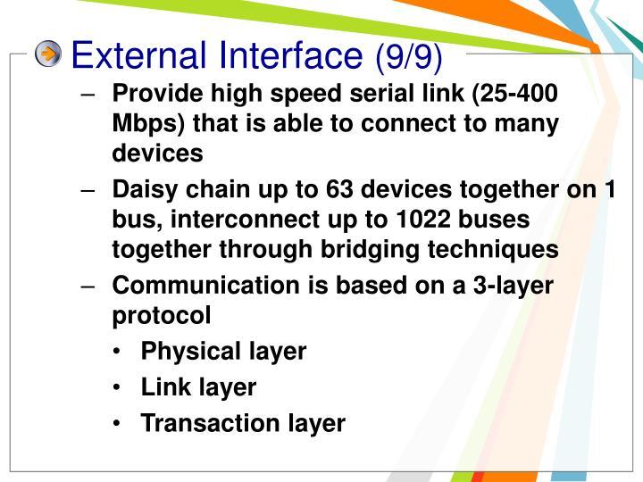External Interface