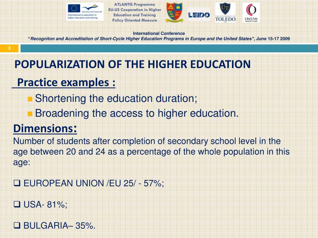 PPT - ATLANTIS Programme EU-US Cooperation in Higher Education and