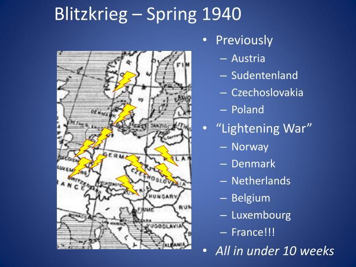 Blitzkrieg – Spring 1940