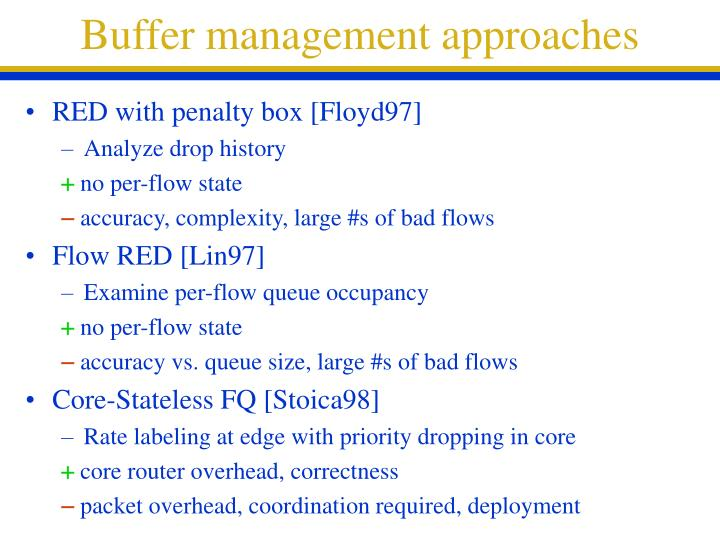 Buffer management approaches