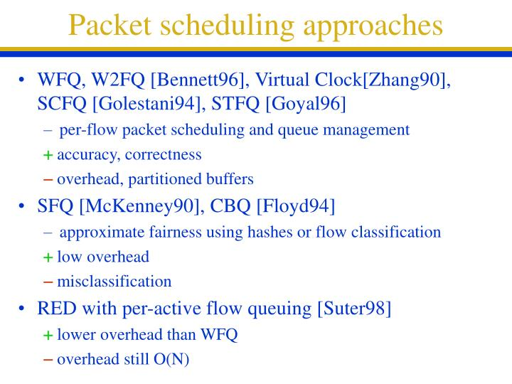 Packet scheduling approaches