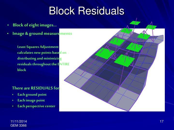 Block Residuals