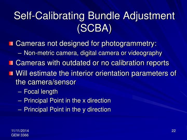 Self-Calibrating Bundle Adjustment (SCBA)