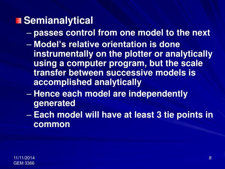 Semianalytical