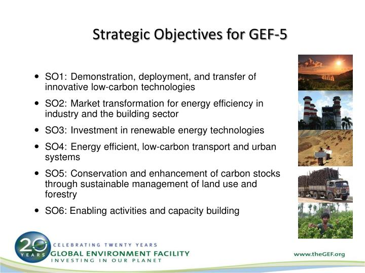 Strategic Objectives for GEF-5