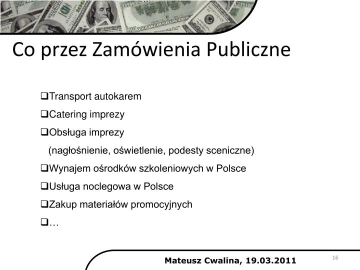 Co przez Zamówienia Publiczne