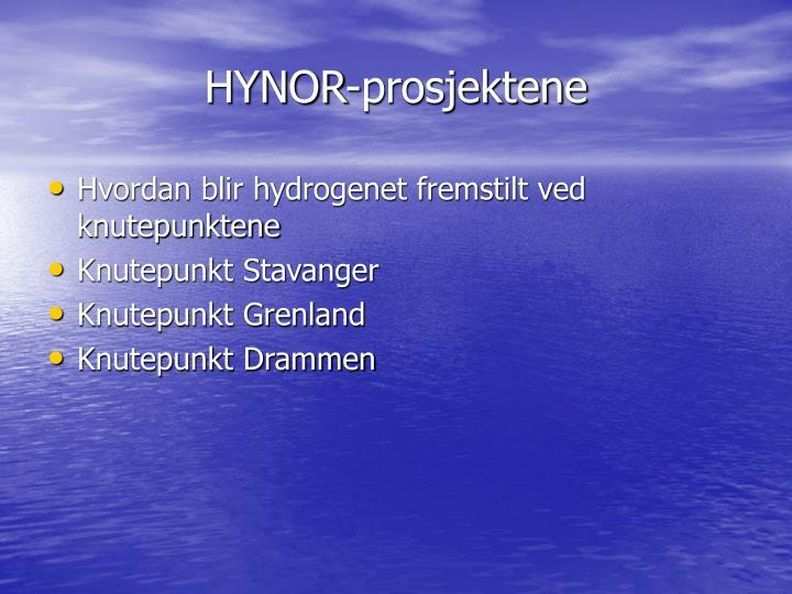 HYNOR-prosjektene