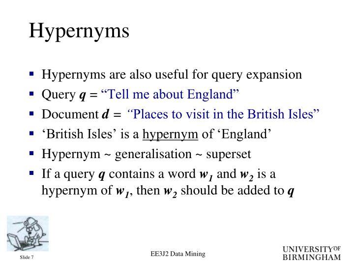 Hypernyms