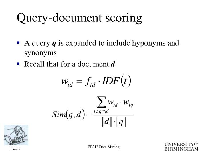 Query-document scoring