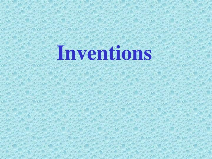 inventions n.