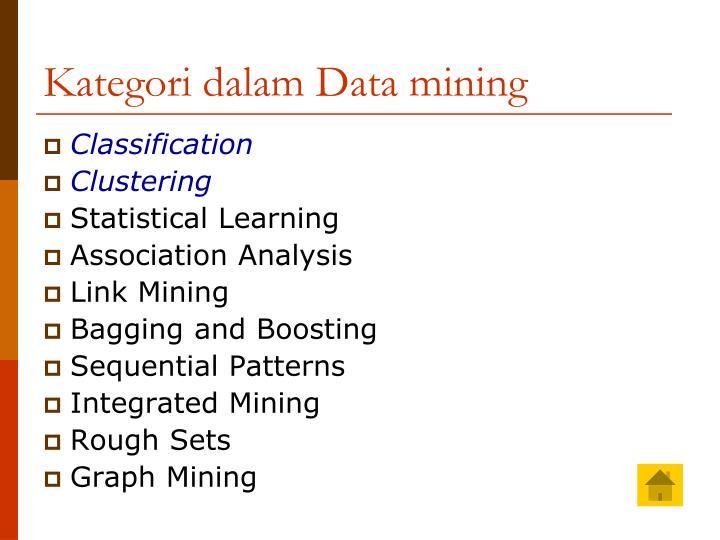 Kategori dalam Data mining