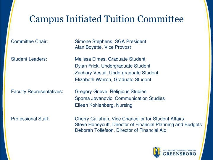 Campus Initiated Tuition Committee
