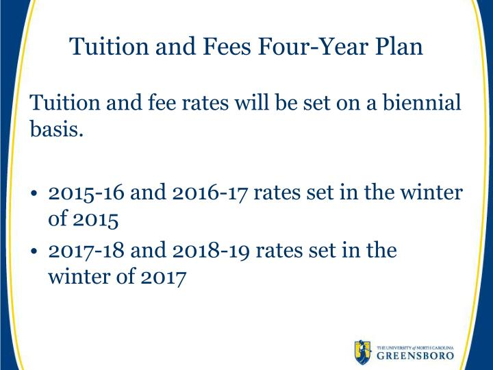Tuition and Fees Four-Year Plan