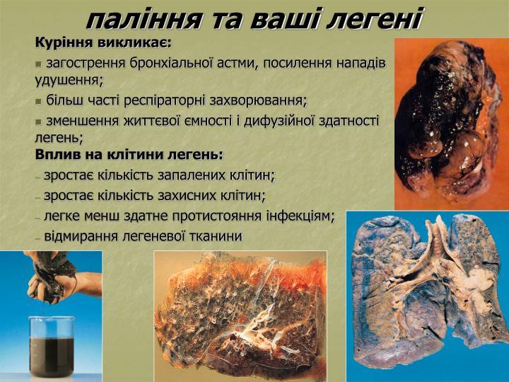 паління та ваші легені