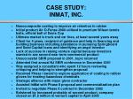 case study inmat inc