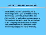 path to equity financing