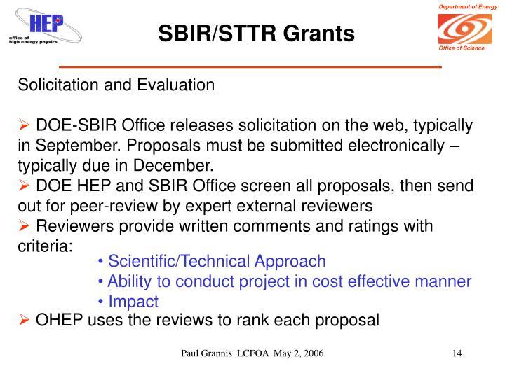 SBIR/STTR Grants