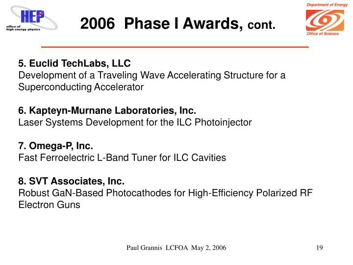 2006  Phase I Awards,