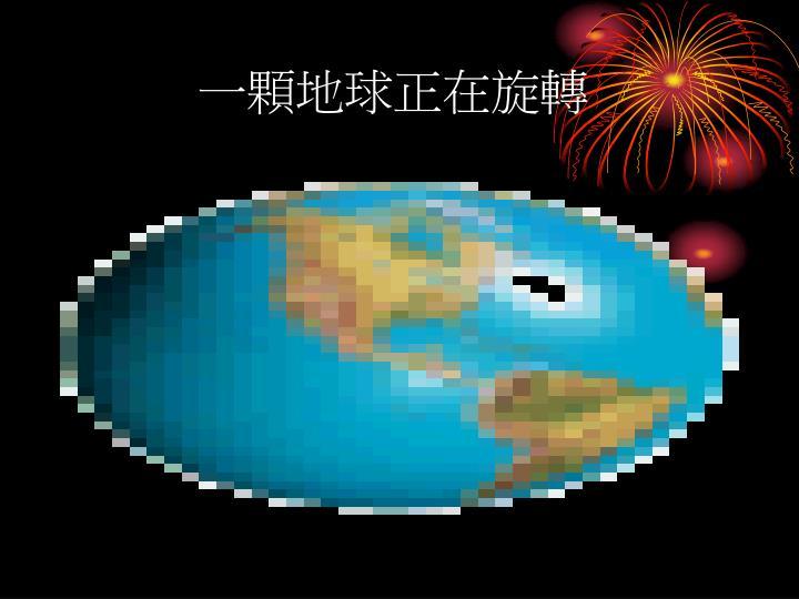 一顆地球正在旋轉