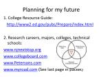 planning for my future