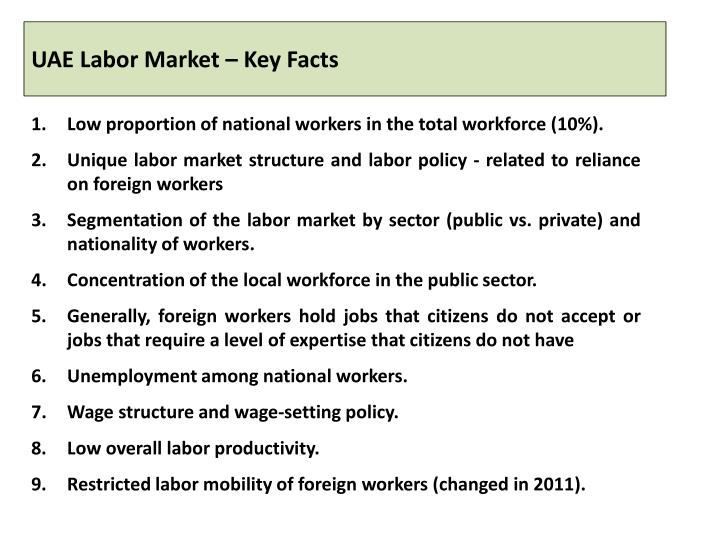 Uae labor market key facts