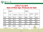 rate of main agri products for sale